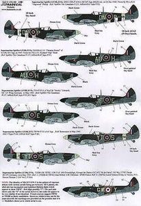 Xtradecal X72182 1/72 Supermarine Spitfire LF.Mk.XVIe Model Decals