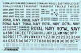 "Xtradecal X48044 1/48 RAF Black Letters, Numerals 4"" ,8"" and 12"" Model Decals"