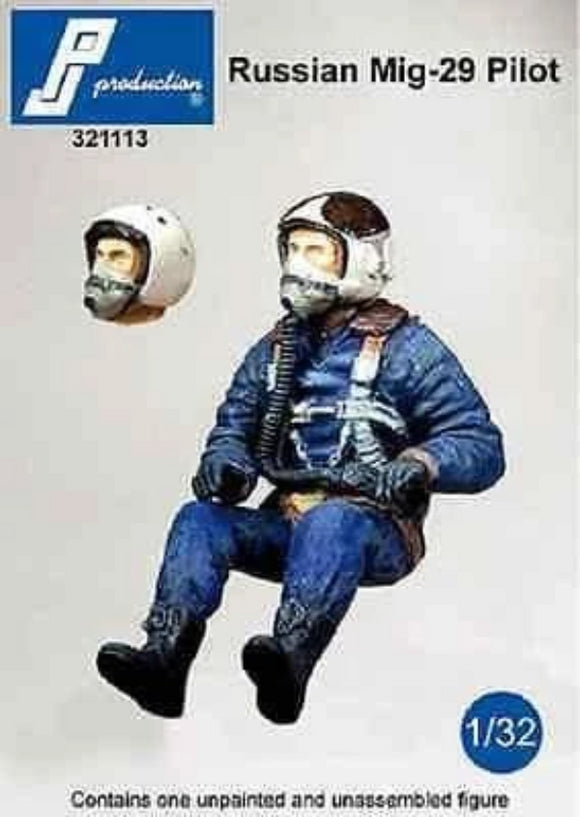 PJ Production 321113 1/32 Russian MiG-29 pilot seated in aircraft Resin Figure - SGS Model Store