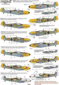 Xtradecal X72118 1/72 Battle of Britain 70th Anniversary Luftwaffe Model Decals