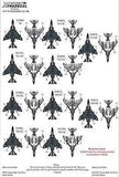 Xtradecal X72268 1/72 McDonnell Douglas Phantom FG.1 Collection Pt1 Model Decals - SGS Model Store