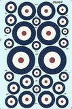 Xtradecal X48031 1/48 RAF Roundels Type A Model Decals - SGS Model Store