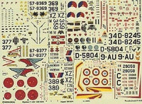 Modeldecal 43 1/72 Jaguar, Thunderstreak, Starfighter, Phantom Model Decals - SGS Model Store