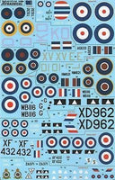Xtradecal X72150 1/72 RAF No 2 Squadron History 1920-2002 Model Decals - SGS Model Store