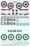 Xtradecal X72062 1/72 Post War Avro Lancasters Part 2 Model Decals