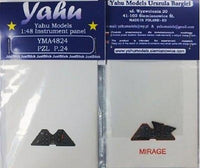 Yahu Models YMA4824 1/48 PZL P.24 Instrument Panel for Mirage - SGS Model Store