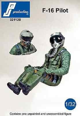 PJ Production 321120 1/32 F-16 Pilot Pilot seated in aircraft Resin Figure - SGS Model Store