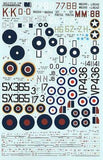 Xtradecal X72135 1/72 Supermarine Seafire Model Decals