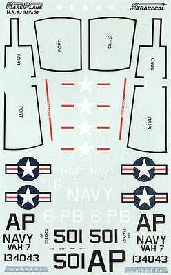Xtradecal X72029 1/72 North-American AJ-2 Savage Model Decals - SGS Model Store