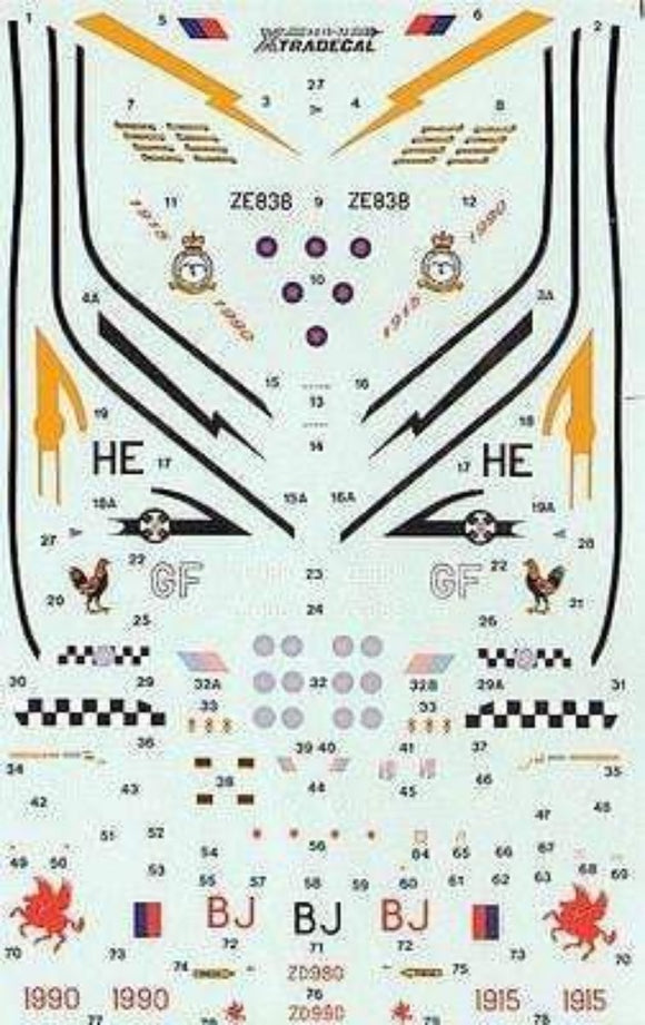 Xtradecal X72019 1/72 RAF Update 1990 Part 2 Model Decals - SGS Model Store