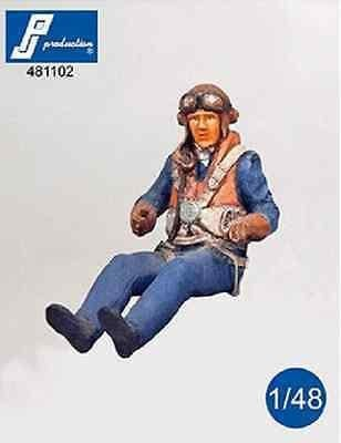 PJ Production 481102 1/48 RAF Pilot WWII seated in aircraft Resin Figure - SGS Model Store