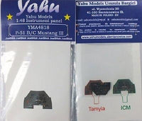Yahu Models YMA4818 1/48 P-51B/P-51C Mustang Instrument Panel for ICM and Tamiya - SGS Model Store