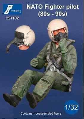 PJ Production 321102 1/32 Modern NATO pilot seated in aircraft Resin Figure - SGS Model Store
