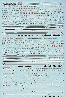 Xtradecal X72096 1/72 BAC/EE Lightning complete stencil data Model Decals - SGS Model Store