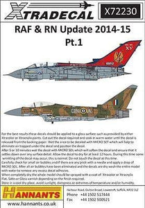 Xtradecal X72230 1/72 RAF & RN Update 2014-15 Pt.1 Model Decals