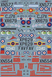 Xtradecal X72250 1/72 Hunting Jet Provost T.3/T.3a/T4/T51/T52 Model Decals - SGS Model Store