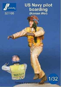 PJ Production 321105 1/32 USN pilot Korean war boarding aircraft Resin Figure - SGS Model Store