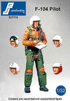 PJ Production 321116 1/32 F-104 pilot standing multipose Resin Figure - SGS Model Store