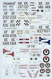 Xtradecal X72058 1/72 Hawker Hunter F.6 Model Decals