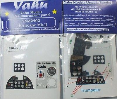Yahu Models YMA2402 1/24 Hurricane Mk.II Instrument Panel for Trumpeter