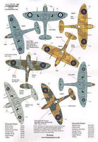 Xtradecal X72187 1/72 Spitfire Mk.Vb/c Model Decals - SGS Model Store