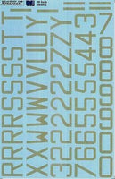 "Xtradecal X32024 1/32 RAF Code Letters / Numbers 30""  Sky Model Decals - SGS Model Store"