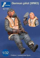 PJ Production 321107 1/32 Luftwaffe Pilot WWII seated in aircraft Resin Figure - SGS Model Store