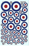 Xtradecal X48037 1/48 RAF Post War D Type roundels Model Decals - SGS Model Store