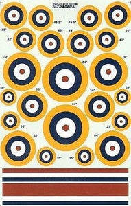 Xtradecal X48032 1/48 RAF WW2 Roundels A1 Type Model Decals - SGS Model Store