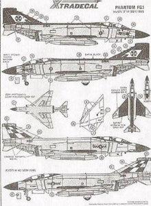 Xtradecal X48002 1/48 McDonnell Phantom FG.1 Model Decals