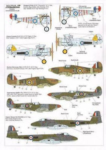 Xtradecal X72132 1/72 RAF 111 Squadron History 1918 - 2011 Model Decals - SGS Model Store