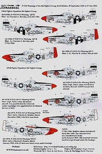 Xtradecal X72099 1/72 P-51D Mustang's from the 4th FG Model Decals