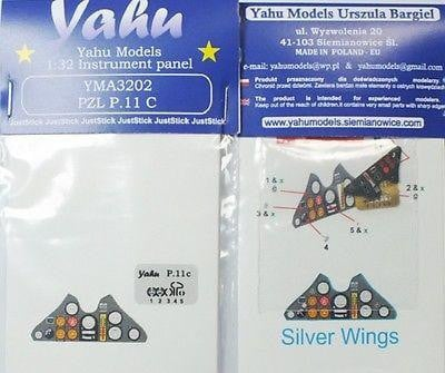 Yahu Models YMA3202 1/32 PZL P.11c Instrument Panel for Silver Wings - SGS Model Store