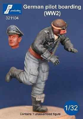 PJ Production 321104 1/32 German (WWII) pilot boarding aircraft Resin Figure - SGS Model Store