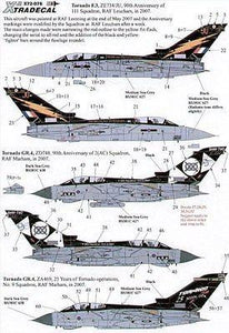 Xtradecal X72076 1/72 RAF Panavia Tornado Update 2007 Model Decals - SGS Model Store
