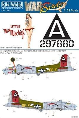 Kits-World KW132062 1/32 B17G Flying Fortress Little Miss Mischief Model Decals - SGS Model Store