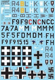 Xtradecal X48180 1/48 Junkers Ju-88C/D Model Decals