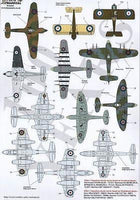 Xtradecal X72149 1/72 RAF No 1 Squadron 100 Years Model Decals - SGS Model Store