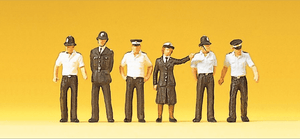 Preiser 10371 00/H0 British Police in Shirt Sleeves Model Railway Figures - SGS Model Store