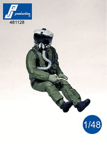 PJ Production 481128 1/48 US pilot with JHMCS helmet seated in a/c Resin Figure - SGS Model Store
