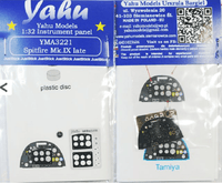 Yahu Models YMA3221 1/32 Spitfire Mk.IXc late Instrument Panel for Tamiya - SGS Model Store
