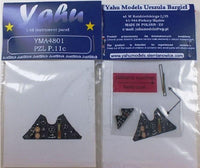Yahu Models YMA4801 1/48 PZL P.11C Instrument Panels for Mirage - SGS Model Store