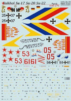 Print Scale 72-179 1/72 Sukhoi Su-17 Su-20 Su-22 Part 2 Model Decals - SGS Model Store