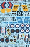Xtradecal X72147 1/72 Fairey Swordfish Mk.I Part 2 Model Decals - SGS Model Store