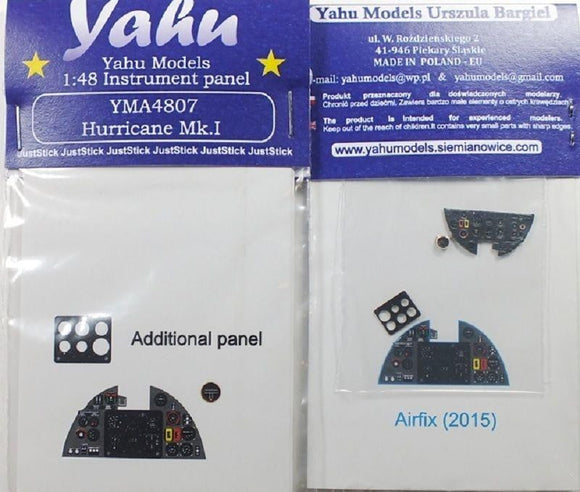 Yahu Models YMA4807 1/48 Hurricane Mk.I Instrument Panel for Airfix - SGS Model Store