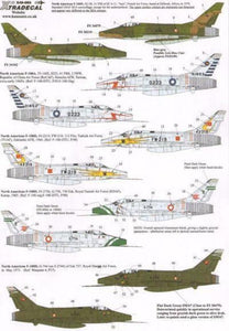 Xtradecal X48085 1/48 F-100D Super Sabre Pt 3 In Foreign Service Model Decals - SGS Model Store