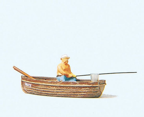 Preiser 28052 00/H0 Angler In A Boat Model Railway Figure - SGS Model Store