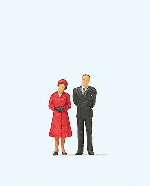Preiser 28132 00/H0 HM The Queen & Prince Philip Model Railway Figures - SGS Model Store