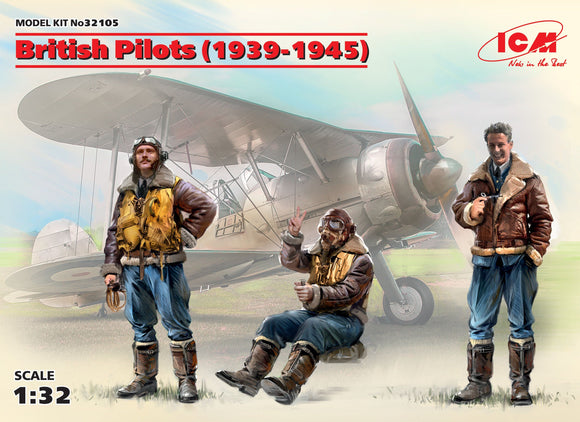 ICM 32105 1/32 British Pilots (1939-1945) 3 Figures - SGS Model Store