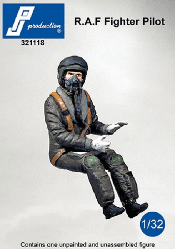 PJ Production 321118 1/32 RAF Fighter Pilot seated in aircraft Resin Figure - SGS Model Store